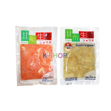 INAKA INAKA INAKA Pickled Ginger pink 85g + White 85g(BBD: 17/10/2020) 1
