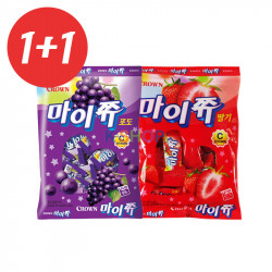 CROWN CROWN 1+1CROWN My Chew Pouch Grape 92g+Strawberry  92g(BBD: 22/10/2020) 1