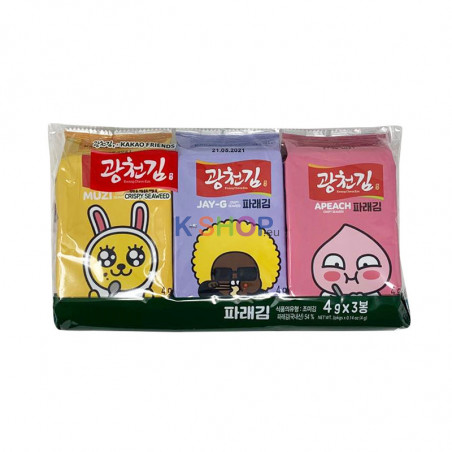 KWANGCHEON KWANGCHEON KWANGCHEON Kakao friends seasoned vegetable pare gim cut (4g x 3) (4g x 3) 1