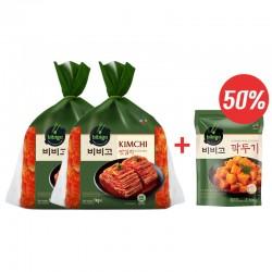 CJ BIBIGO CJ BIBIGO (냉장) 비비고 맛김치 1kg x 2 +깍두기500g 1