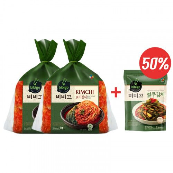 CJ BIBIGO CJ BIBIGO (RF) CJ BIBIGO Kimchi whole (1kgx 2 )+Young Radish Leaves Kimchi (Yeolmu) 500g 1