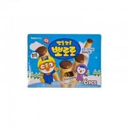 LOTTE  PORORO Ice cone Snack – Chocolate 54g 1