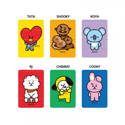 BT21/BTS STAMP RJ/TATA/COYA/CHIMMY/COOKY/SHOOKY 1
