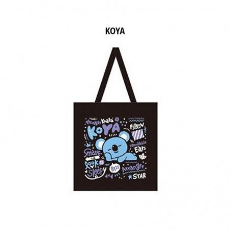 BT21-BTS BLACK Ecobag - Koya/Cooky/Mang 1