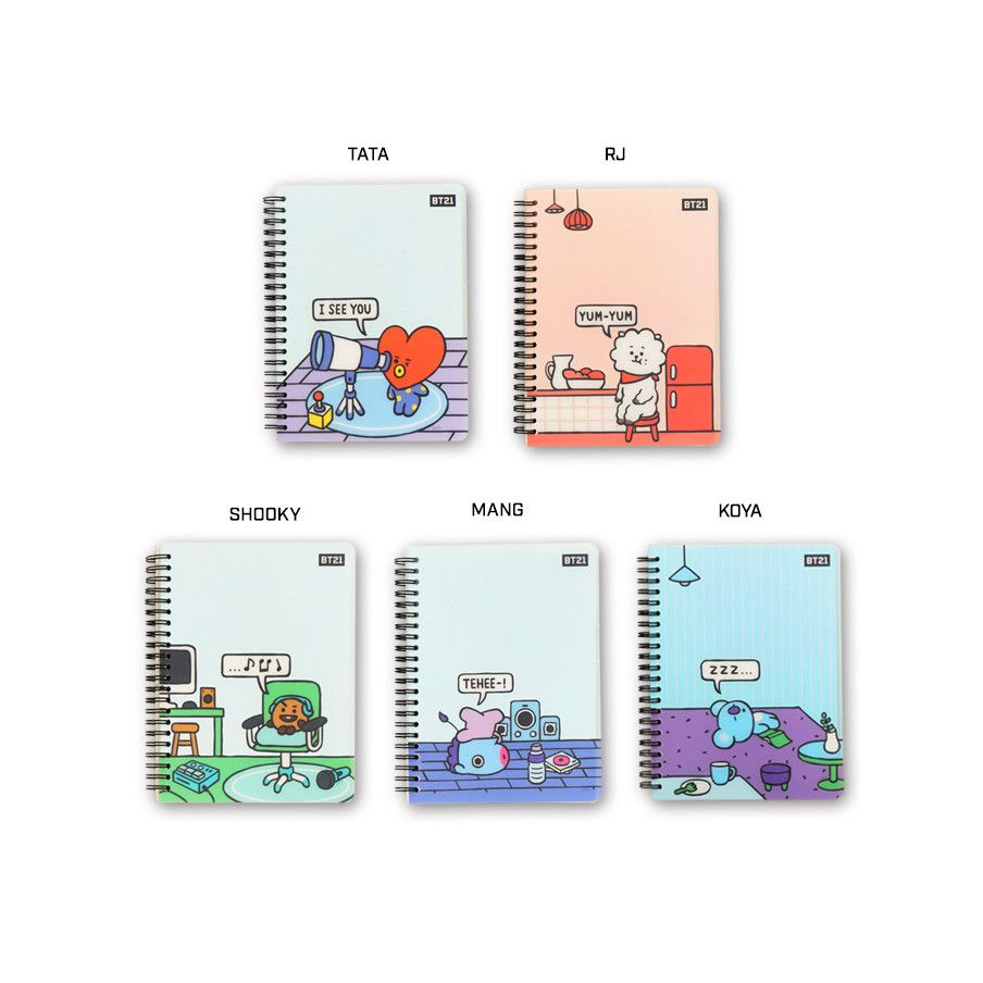 LOTTE  BT21/ BTS Cover Notebook 1