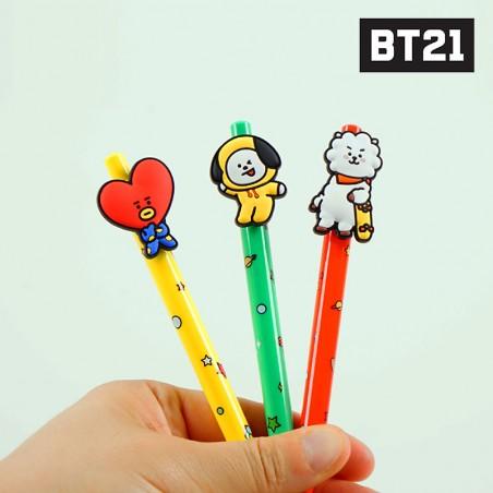 BT21/ BTS Figure Gel pen - Cooky/RJ/ Shooky/Mang 1