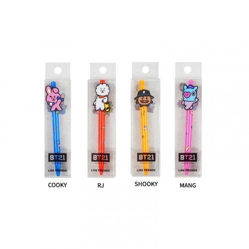 BT21/ BTS Figure Gel pen - Cooky/RJ/ Shooky/Mang 1