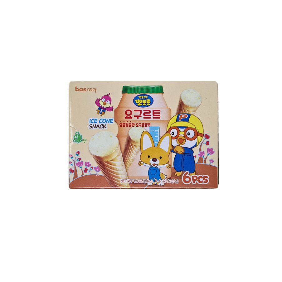 LOTTE  PORORO Ice cone Snack – Yogurt 54g 1