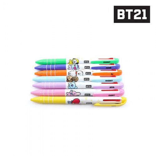 BT21-BTS 3 color ball pen - Koya/RJ/Mang 1