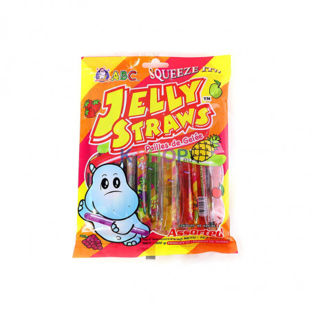 LOTTE  ABC Funny Hippo Jelly Straws Assorted (different flavors) 300g 1