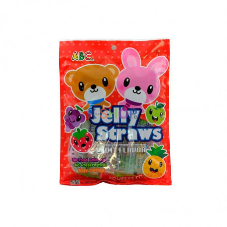 LOTTE  ABC Jelly Straws Fruit Flavor 300g 1
