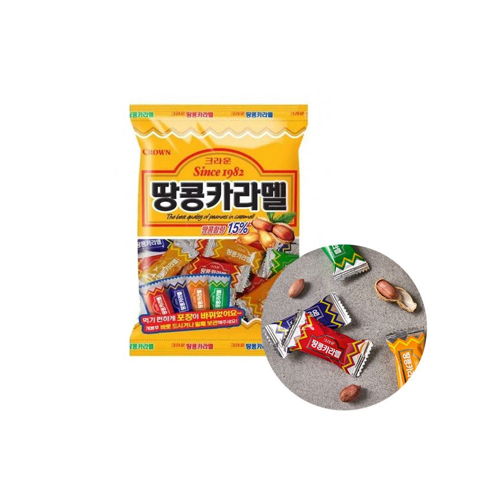 CROWN CROWN CROWN Caramel Candy Peanut 120g (BBD: 02/12/2021) 1