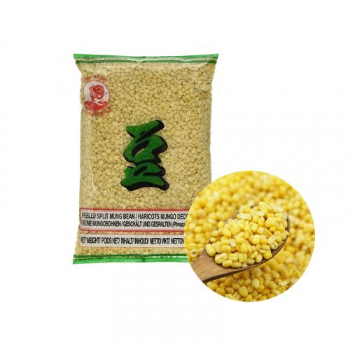 COCK COCK COCK mung beans, peeled green and split 400g 1