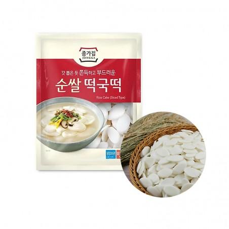 JONGGA (Kühl) JONGGA Reiskuchen geschnitten Tteokguk-Tteok 500g (MHD : 11/01/2022) 1