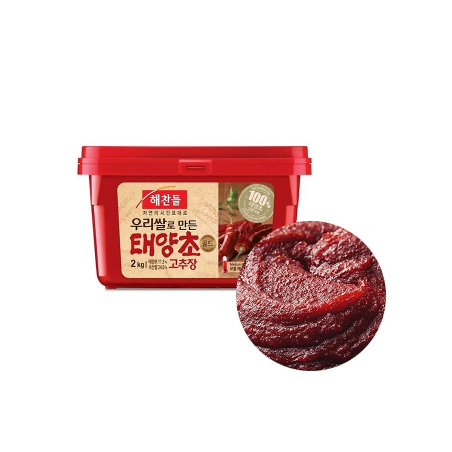 CJ HAECHANDLE  해찬들 우리 쌀로 만든 태양초 고추장 2kg (유통기한: 19/04/2022) 1