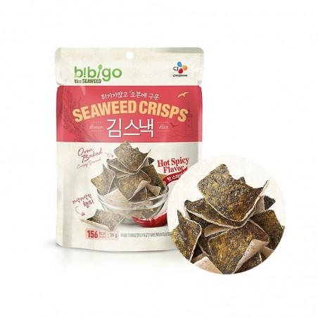 CJ BIBIGO CJ BIBIGO CJ BIBIGO Seaweed Crisps with Rice spicy 20g 1
