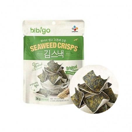 CJ BIBIGO CJ BIBIGO CJ BIBIGO Seaweed Rice Chips original 20g 1
