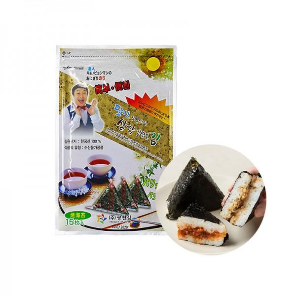 MYONGGA KWANGCHEON KWANGCHEON Sushi Nori für Onigiri dreieckig 15Blätter 18g 1