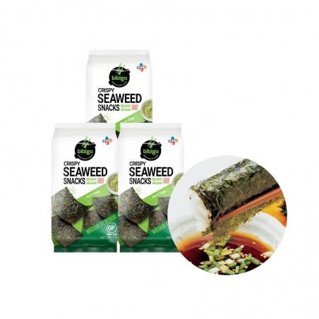 CJ BIBIGO CJ BIBIGO CJ BIBIGO Seaweed Rice Chips Wasabi 15g 1