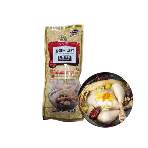 SUBIN  Spices for korean. Chicken soup with ginseng 70g 1