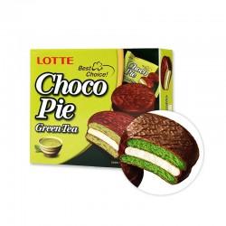 LOTTE LOTTE LOTTE Chokopie Greentea (28g x 12)(MHD : 06/01/2022) 1