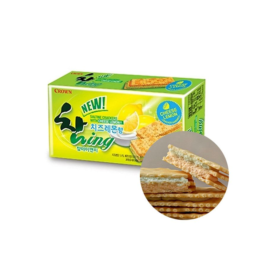 CROWN CROWN Crown Biscuit New Chaming cheese lemon 135g(BBD : 05/10/2021) 1