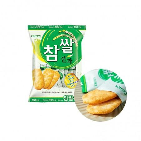 CROWN CROWN CROWN Rice Cracker salted 115g(BBD : 13/09/2021) 1