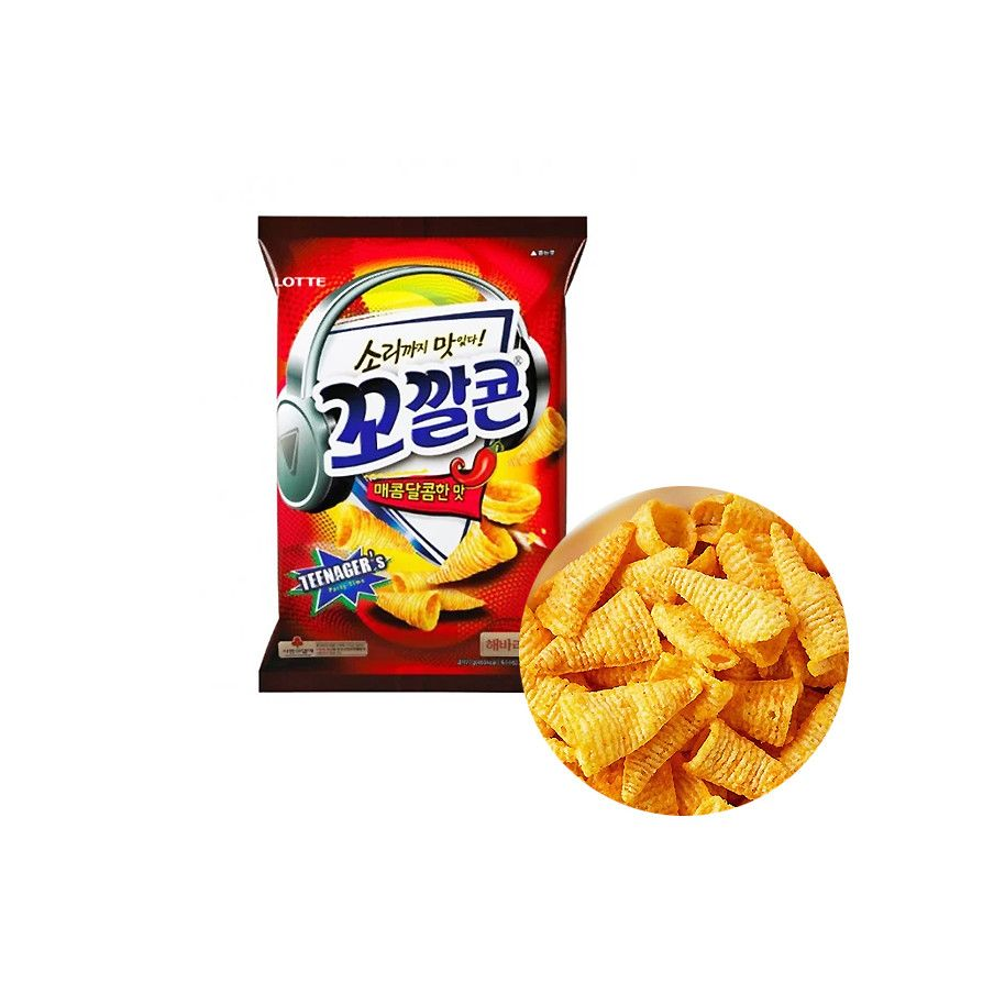 LOTTE LOTTE LOTTE Corn Chips Sweet and Spicy 72g 1
