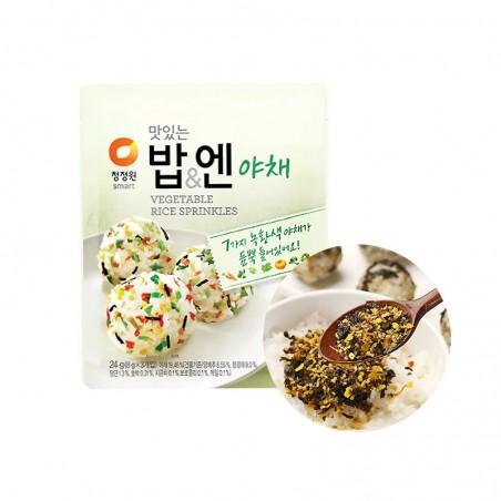 CHUNGJUNGONE 청정원 맛있는밥&엔 야채 (8g x 3) 24g 1