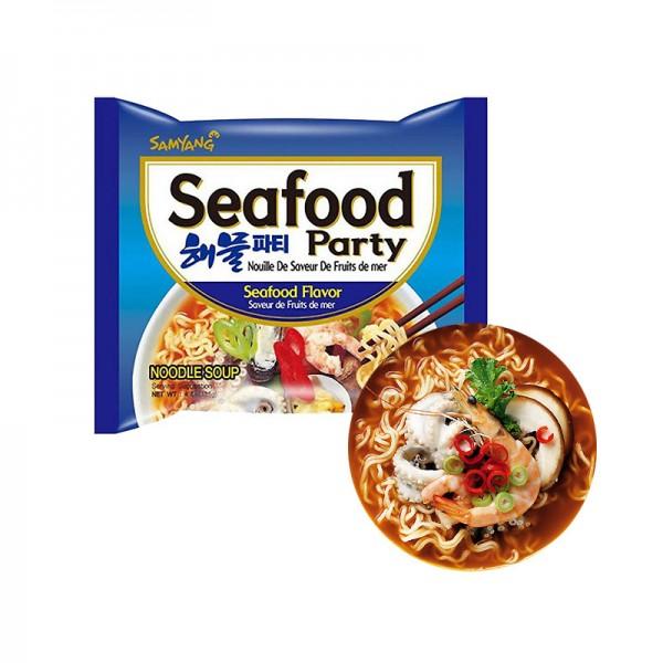 SAMYANG  SAMYANG Instant Nudeln Seafood Party 125g(MHD: 31/08/2021) 1