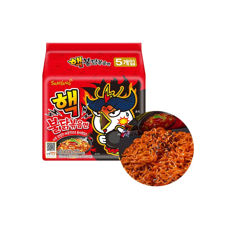 SAMYANG  SAMYANG Ramen Hot Chicken, Extrem Multi-Pack (140g x 5 ) 1