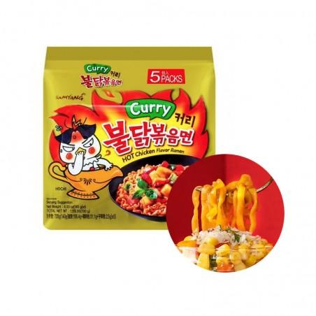 SAMYANG  SAMYANG Ramen Hot Chicken, Curry Mulit-Pack (140g x 5) 1