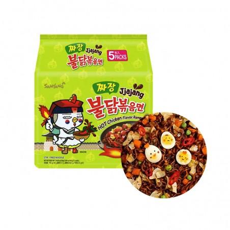 SAMYANG  SAMYANG Instant Noodle Hot Chicken Jjajang Multipack (140g x 5) 1