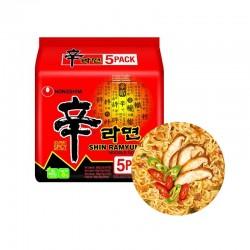 NONG SHIM NONG SHIM (Domestic) NONGSHIM Instant Noodle Shin Ramen Multi(120g x 5)(BBD: 08.09.2021) 1