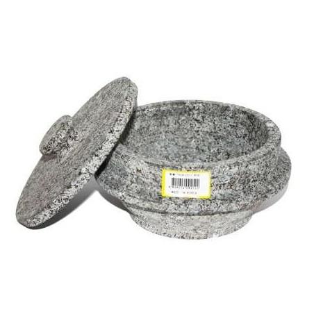 ASSI  Korean stone Pot Ttukbaegi with lid 16cm 1