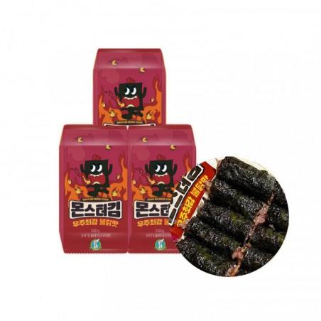 KWANGCHEON KWANGCHEON SUNG GYUNG Monster Gim (Hot Chicken Flavor) 18g (3 x 6g) 1