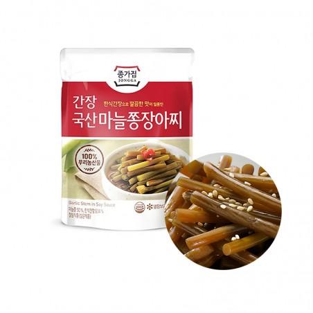 INAKA JONGGA (냉장)종가집 국산 간장 마늘쫑장아찌 150g(유통기한: 11/09/2021) 1