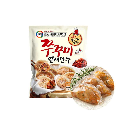 HANSUNG  (냉동) 수라상 쭈꾸미 잎새 만두 600g 1