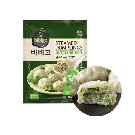 CJ BIBIGO CJ BIBIGO (FR) CJ BIBIGO Steamed Dumplings with Chicken & Coriander 560g (BBD: 23/03/2022) 1