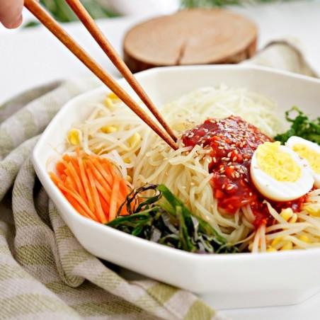 ASSI  (Kühl) WANG Scharfer Sauce Korean Style Noodles 520g (Bibim Saeng Jolmyeon) 1