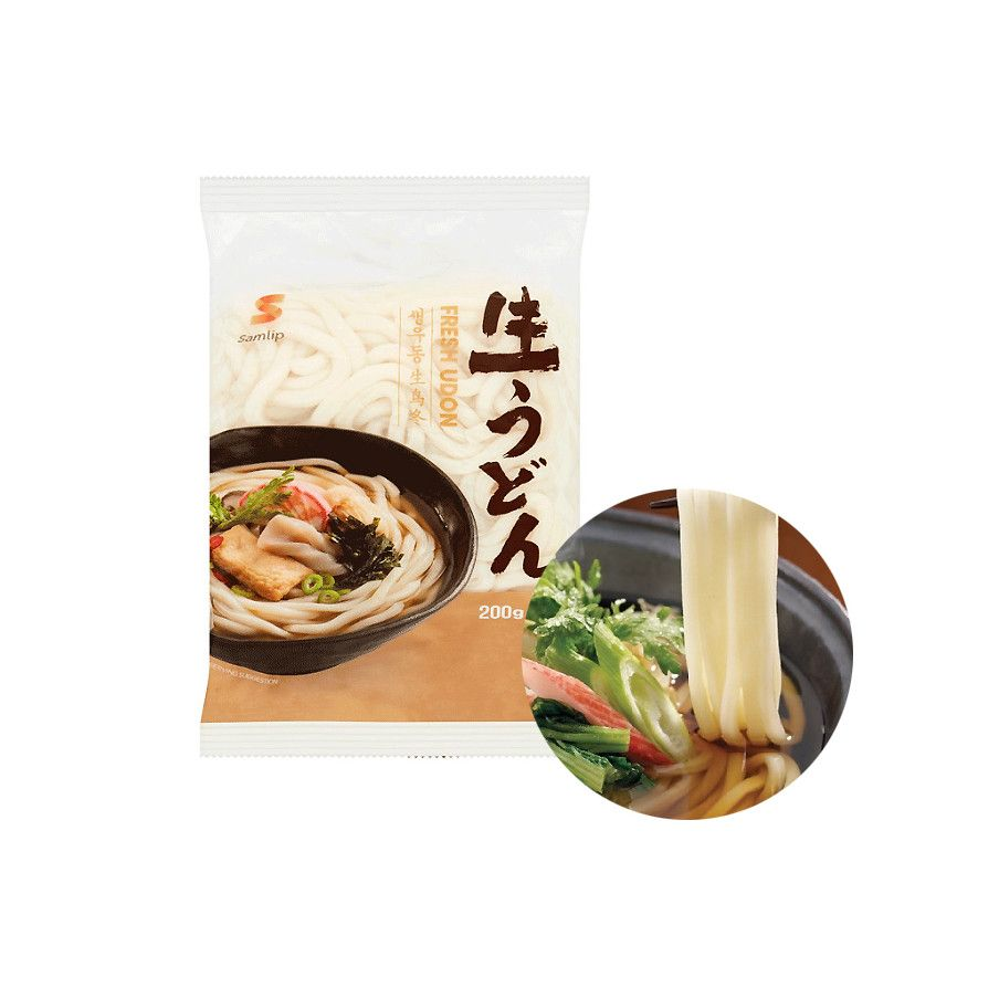 INAKA  SAMLIP Udon without spices, cooked 200g 1