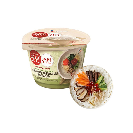 CJ HETBAN Gekochter Reis mit Gemüse Bibimbap 229g 1