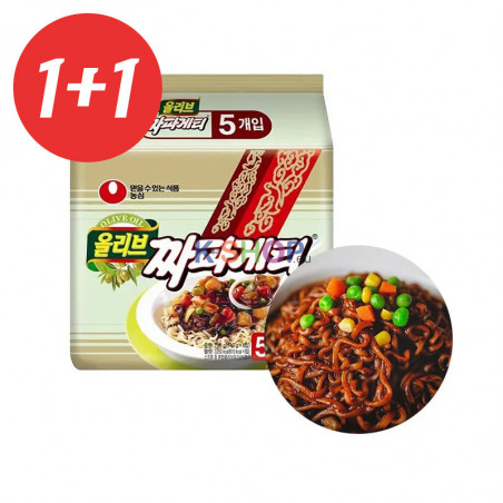 NONG SHIM NONG SHIM 1+1(Domestic) NONGSHIM Instant Nudeln Chapagetti Multi(140gx5)(MHD:15/08/2021) 1