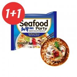 SAMYANG  1+1 SAMYANG Instant Nudeln Seafood Party 125g(MHD: 31/08/2021) 1
