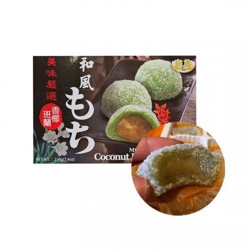 Royal Family Rice cake, coconut pandan flavor (mochi) 210g 1