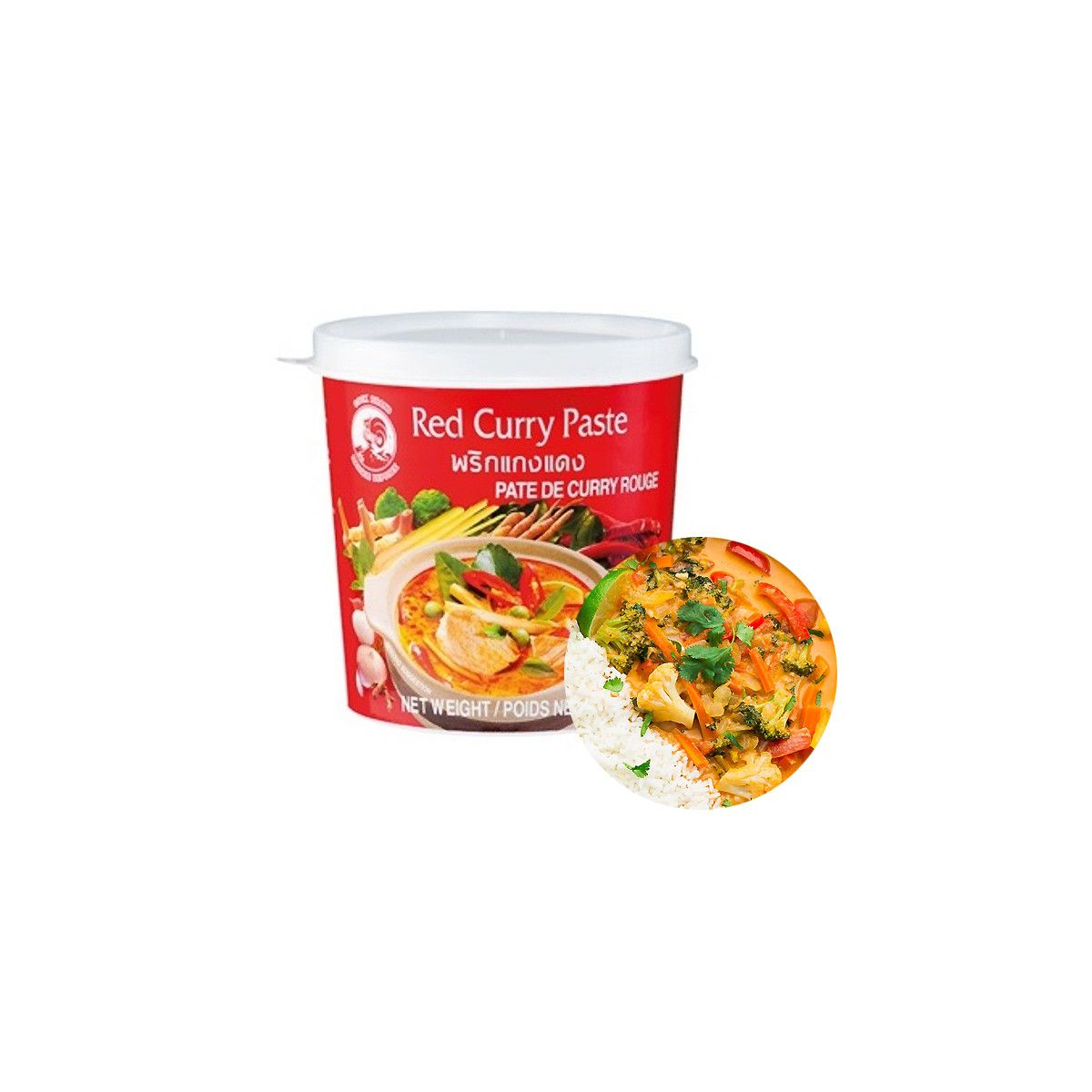 COCK COCK COCK Currypaste Rot 1kg 1