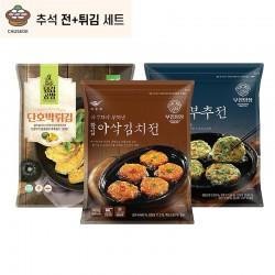 SAONGWON SAONGWON (냉동)사옹원 추석 전+튀김 세트 (땡초부추전,아삭김치전,단호박튀김) 1