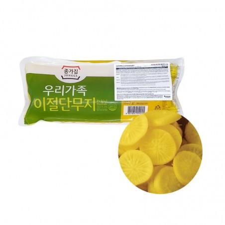 JONGGA (Kühl) Jongga Gelberettich halb geschnitten 350g (MHD : 04/11/2021) 1
