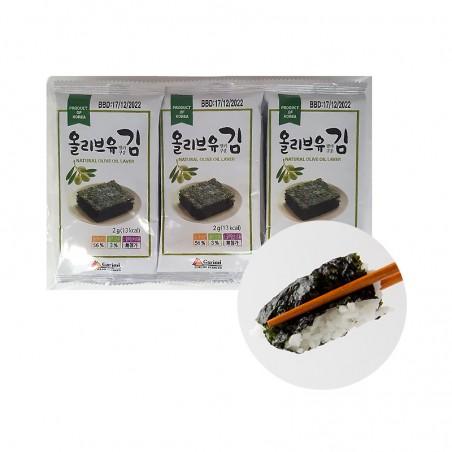 KWANGCHEON  GARIMI Mini seaweed with olive oil 24g ( 2g x 12 pieces) 1