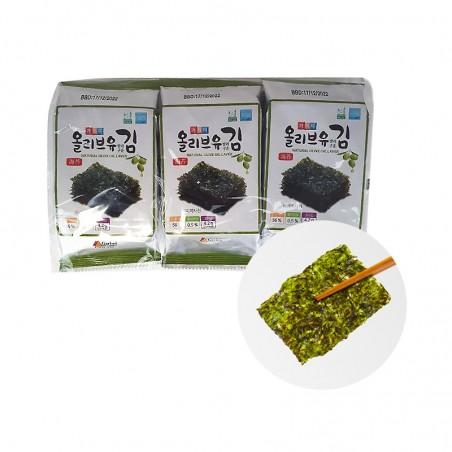 KWANGCHEON  GARIMI Seetang mit Oliven Öl 12.6g  (4.2g x 3 Stück) 1